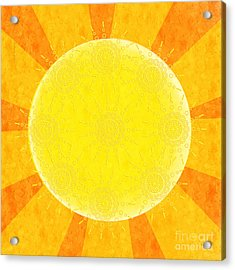 You Are The Sunshine Of My Life Acrylic Print by Andee Design