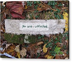 You Are Unlimited Acrylic Print by Linda Marcille