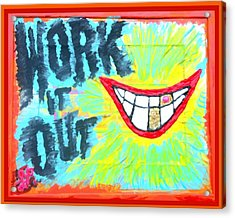 Acrylic Print featuring the painting You Better Work It Out by Lisa Piper