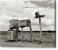 You Have Mail Circa 1940 Acrylic Print by Aged Pixel