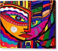You Move Me - Face - Abstract Acrylic Print