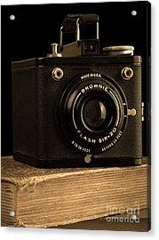 You Push The Button We Do The Rest Kodak Brownie Vintage Camera Acrylic Print by Edward Fielding