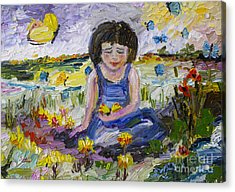 You Will Find Me By The Brook Where The Butterflies Live 2 Acrylic Print by Ginette Callaway