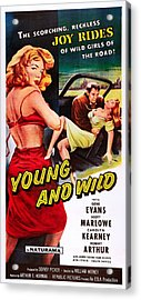 Young And Wild, Left Carolyn Kearney Acrylic Print