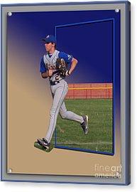 Young Baseball Athlete Acrylic Print by Thomas Woolworth