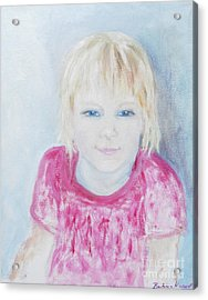 Young Blue-eyed Girl  Acrylic Print by Barbara Anna Knauf