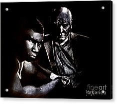 Young Boxer And Soon To Be World Champion Mike Tyson And Trainer Cus Damato Acrylic Print