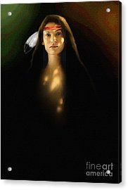 Young Brave Acrylic Print by Robert Foster