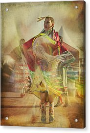 Young Canadian Aboriginal Dancer Acrylic Print