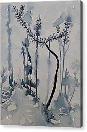 Young Chestnut In Blue Acrylic Print by Carolina Nunez Diaz