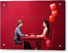 Young Couple With Cake Acrylic Print by Image Source