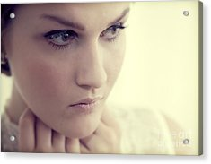 Young Elegant Woman In Glamour Fashion Acrylic Print by Michal Bednarek