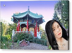 Young Filipina Beauty With A Mole Model Kaye Anne Toribio  Altered Version II Acrylic Print by Jim Fitzpatrick