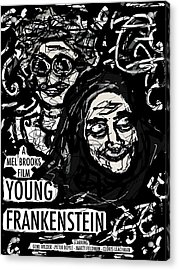 Young Frankenstein Poster Design Acrylic Print