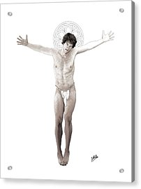 Young Crucified Acrylic Print