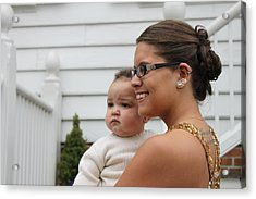 Young Girl And Baby Acrylic Print by Carolyn Ricks