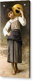 Young Girl Going To The Fountain Acrylic Print by William Bouguereau