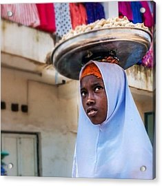 Young Girl In Jos, Nigeria Acrylic Print