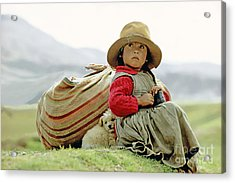 Young Girl In Peru Acrylic Print