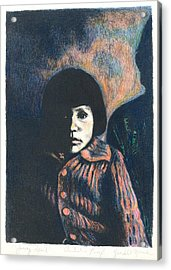 Young Girl Acrylic Print by Kendall Kessler
