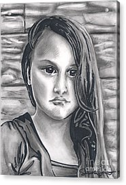 Young Girl- Shan Peck Contest Acrylic Print by Samantha Geernaert