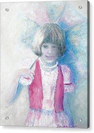 Young Girl With Umbrella Acrylic Print by Barbara Anna Knauf