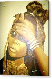 Young Himba Girl - Original Artwork Acrylic Print