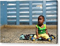 Young Hospital Patient Acrylic Print by Matthew Oldfield