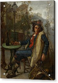 Young Italian Street Musician Acrylic Print by Thomas Couture