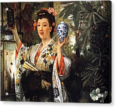 Young Japanese Lady Acrylic Print