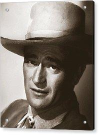 Young John Wayne Painting Traditional Acrylic Print