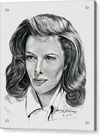 Young Katherine Hepburn Acrylic Print