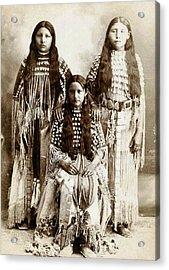 Young Kiowa Belles 1898 Acrylic Print by Unknown
