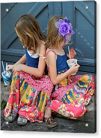 Taking A Break At Mardi Gras Acrylic Print
