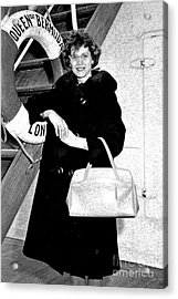 Young Lady On First Cruise Acrylic Print by Allan  Hughes