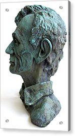 Young Lincoln -sculpture Acrylic Print by Derrick Higgins