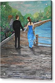 Young Love Acrylic Print by Rhonda Lee