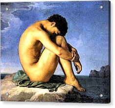Young Man By The Sea Acrylic Print by Hippolyte Flandrin