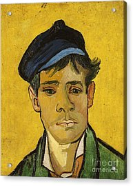 Young Man With A Hat Acrylic Print by Vincent Van Gogh