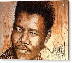 Young Mandela Acrylic Print