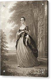 Young Martha Washington 1863 Acrylic Print by Padre Art