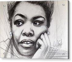 Young Maya Angelou Acrylic Print