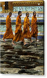 Acrylic Print featuring the photograph Young Monks by Rob Tullis