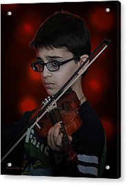 Young Musician Impression # 3 Acrylic Print