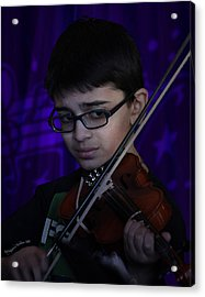 Young Musician Impression # 5 Acrylic Print