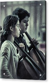 Young Musicians Impression # 38 Acrylic Print