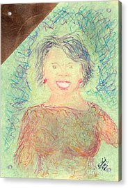 Young Oprah At The Opera 1 Pop Natural Acrylic Print by Richard W Linford