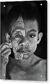 Young Or Old Acrylic Print by Amaluddin
