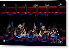 Young People Sitting At The Cinema Acrylic Print by Stock-asso