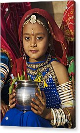 Young Rajathani At Mewar Festival - Udaipur India Acrylic Print by Craig Lovell